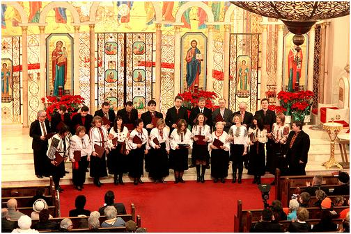 The Irmos Choir performing at the
